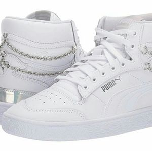 Puma White Chain Bling sneaker.